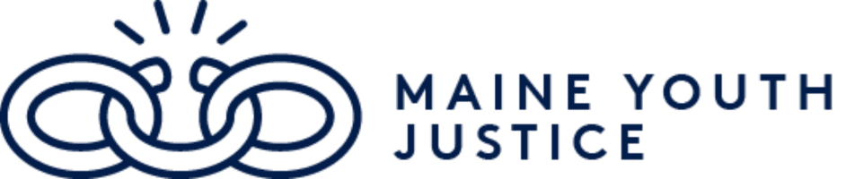 a chain link with a break in the middle signifying the Maine Youth Justice logo